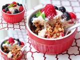Nutty Oat Crumbles with Kinohimitsu Berry Mascarpone Cream