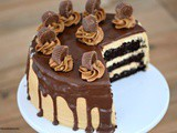 Chocolate Peanut Butter Drip Cake