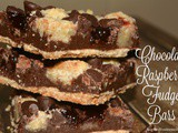 Chocolate Raspberry Fudge Bars