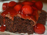 Chocolate Raspberry Snack Cake