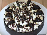 No Bake Chocolate Chip Oreo Ganache Cheesecake