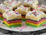 Rainbow Cookie Crumb Cake