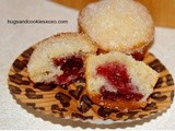 Raspberry Filled Sugared Doughnut Muffins