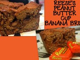 Reese's peanut butter cup banana bread