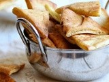Homemade Za'atar Pita Chips and Quick Labneh Dip