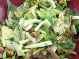 Fennel, Pear, Celery, and Hazelnut Salad