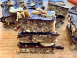Healthy Snack Bars (Paleo, Vegan) || Chocolate Nut Bars
