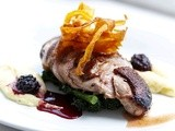Duck Breasts, Parsnip purée & a Cranberry wine sauce