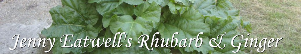 Very Good Recipes - Jenny Eatwell's Rhubarb & Ginger