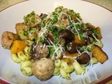 Catalan Butifarra sausage pasta with chestnuts - thank you, Quiet Waters Farm