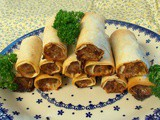 Cheese & mustard pork sausage filo rolls - perfect crunchy morsels