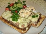 Turkey & Bacon Meatloaf - on Ciabatta with cheese