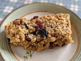 Cranberry and berries flapjacks