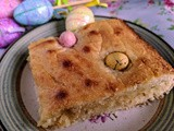 Lemon and White Chocolate Easter Mini Eggs Blondies