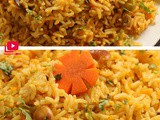 Carrot rice recipe | Carrot cashew pulao