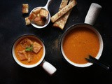 Easy Tomato soup recipe restaurant style | Pressure cooker creamy south Indian soup with tomatoes