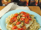 Grilled Tilapia with Olives, Tomatoes, & Capers ~ a @STAR_Fine_Foods Feature & #Giveaway