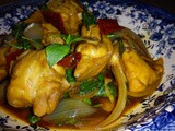 Braised chicken with soya sauce & basil