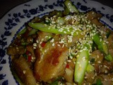 Ezcr#81 - plum sauce meat with asparagus