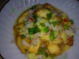 Fried fish fillet with pineapples