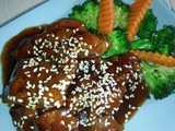Homemade teriyaki sauce pork chop