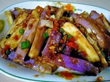 Pan fried eggplant with fragrant sauce