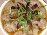 Steamed chicken with fuchok