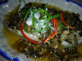 Steamed fish with mei cai