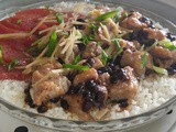 Steamed rice with pork ribs