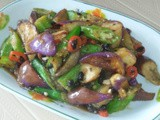 Stir fry brinjal and lady's fingers