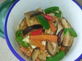 Stir fry tofu with mushrooms