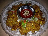 Thai fried corn fritters