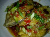 Thai fried fish with chilli sauce