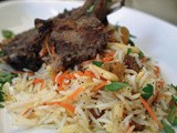 Pakistani Style Grilled Mutton Chops with Saffron Rice