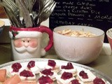 Christmas Canapés – Smoked Salmon and Cream Cheese / Brie and Cranberry Blinis