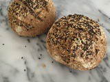 My recipe for wholewheat sourdough bread with mixed seed featured on MyHealthyDXB