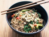 Cooked again with Cookgourmet.co – Sesame Soba Noodles with Cucumber, Bok Choy and Mixed Greens