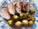 File s prokulicom i šampinjonima ☆ Pork tenderloin with Brussel sprouts and button mushrooms