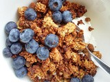 Banana, nut and honey crunchy granola - gluten free option