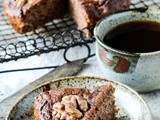 Healthy Coffee and Walnut Cake