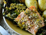 Salmon Broccolini and Asparagus Traybake