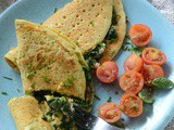 Spinach And Feta Chickpea Pancakes