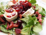 Random Recipes, Day Nine on the Advent Calendar and Goat's Cheese Salad with Quick Cranberry Chutney
