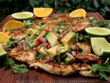 Grilled chicken a la plancha with avocado salsa {Pollo a la plancha}