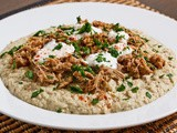 Baba Ghanoush Topped with Lamb and Yogurt Recipe