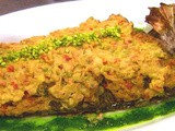 Baked fish with pistachio and tahini (samke harra) recipe