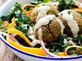 Baked Red Lentil Falafel Salad Recipe