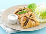 Beef mint and feta pies recipe