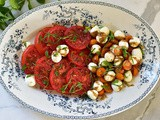 Caprese Salad with Pomegranate and Mint