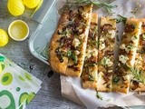 Caramelised onion and goat's cheese flatbread recipe